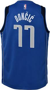 Nike Youth Dallas Mavericks Luka Doncic #77 Royal Dri-FIT Swingman Jersey product image