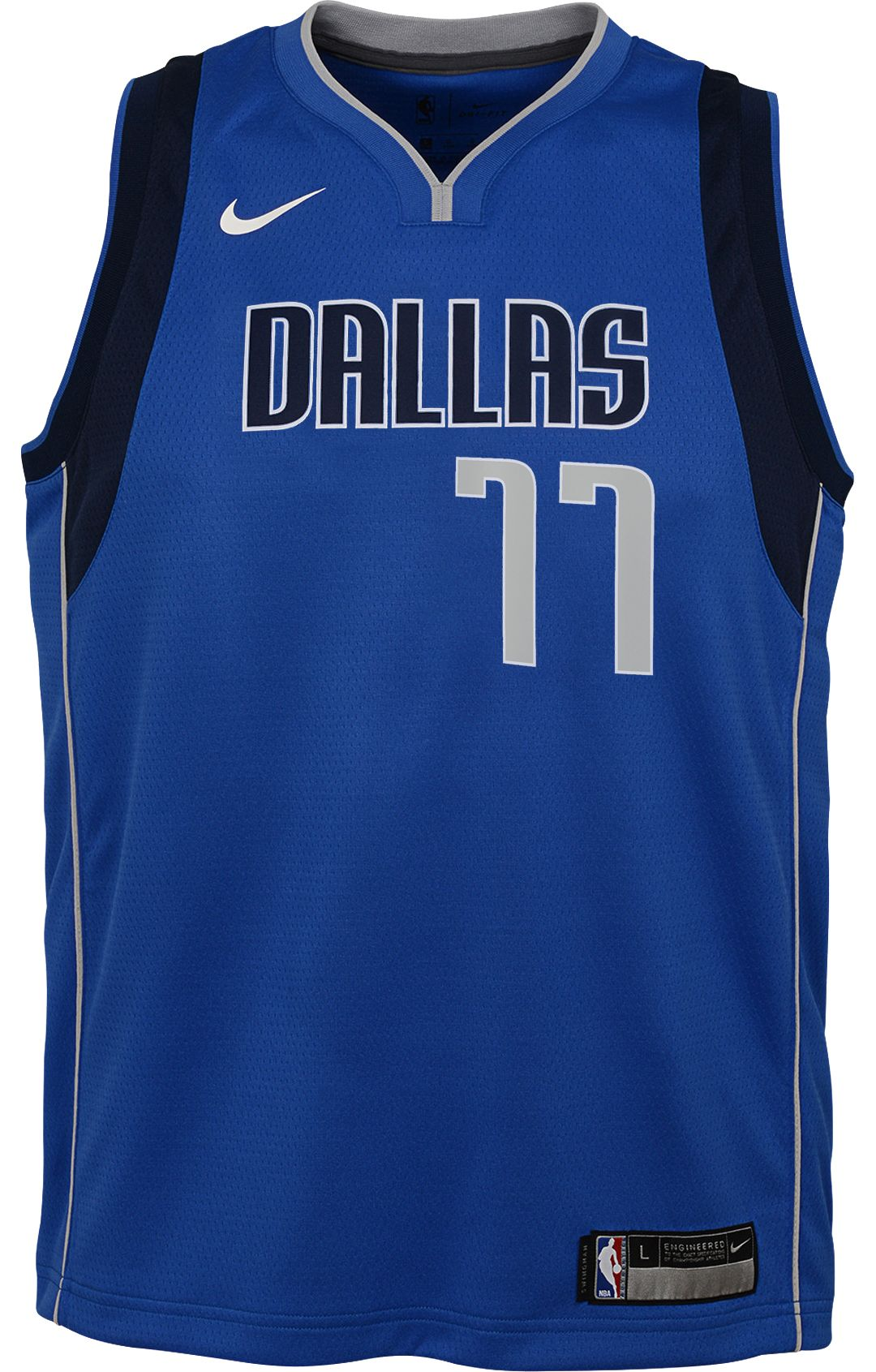 a48ca078 Nike Youth Dallas Mavericks Luka Doncic #77 Royal Dri-FIT Swingman Jersey