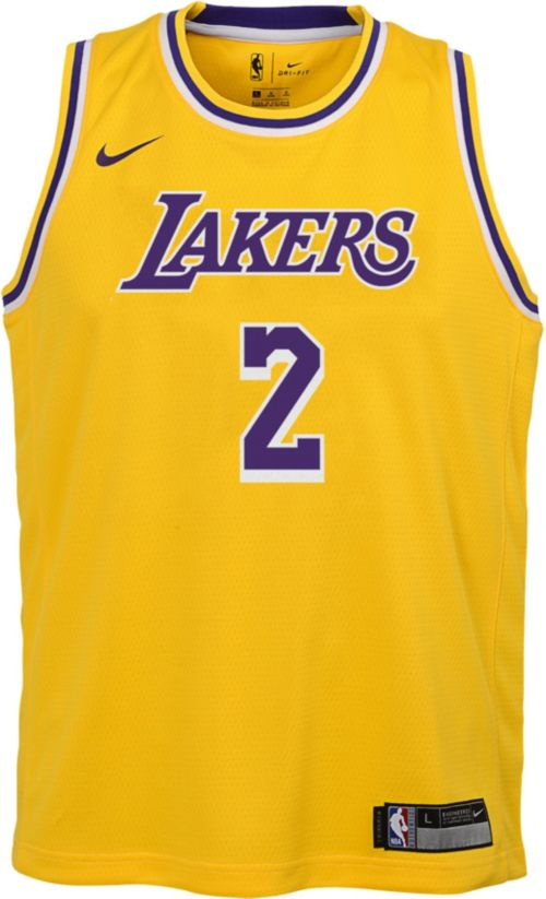 90ae60b37dd Nike Youth Los Angeles Lakers Lonzo Ball  2 Gold Dri-FIT Swingman Jersey.  noImageFound. Previous. 1. 2