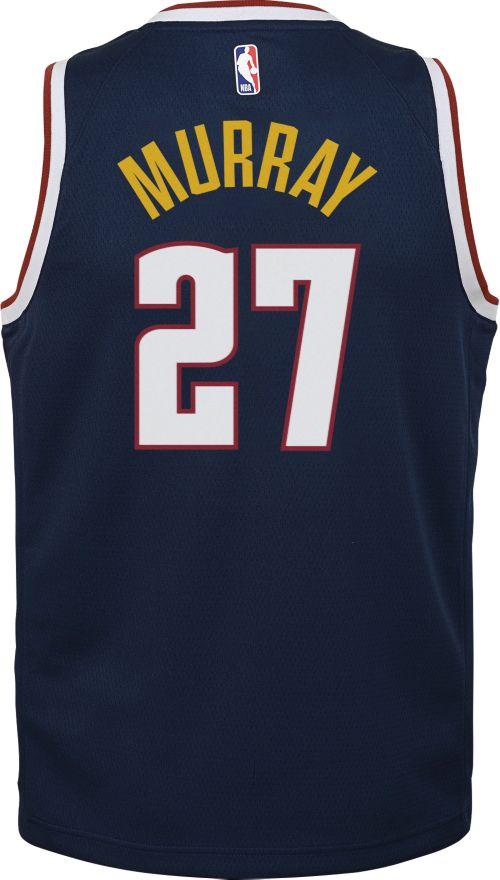 bcc3b263d18f Nike Youth Denver Nuggets Jamal Murray  27 Navy Dri-FIT Swingman Jersey.  noImageFound. Previous. 1. 2. 3