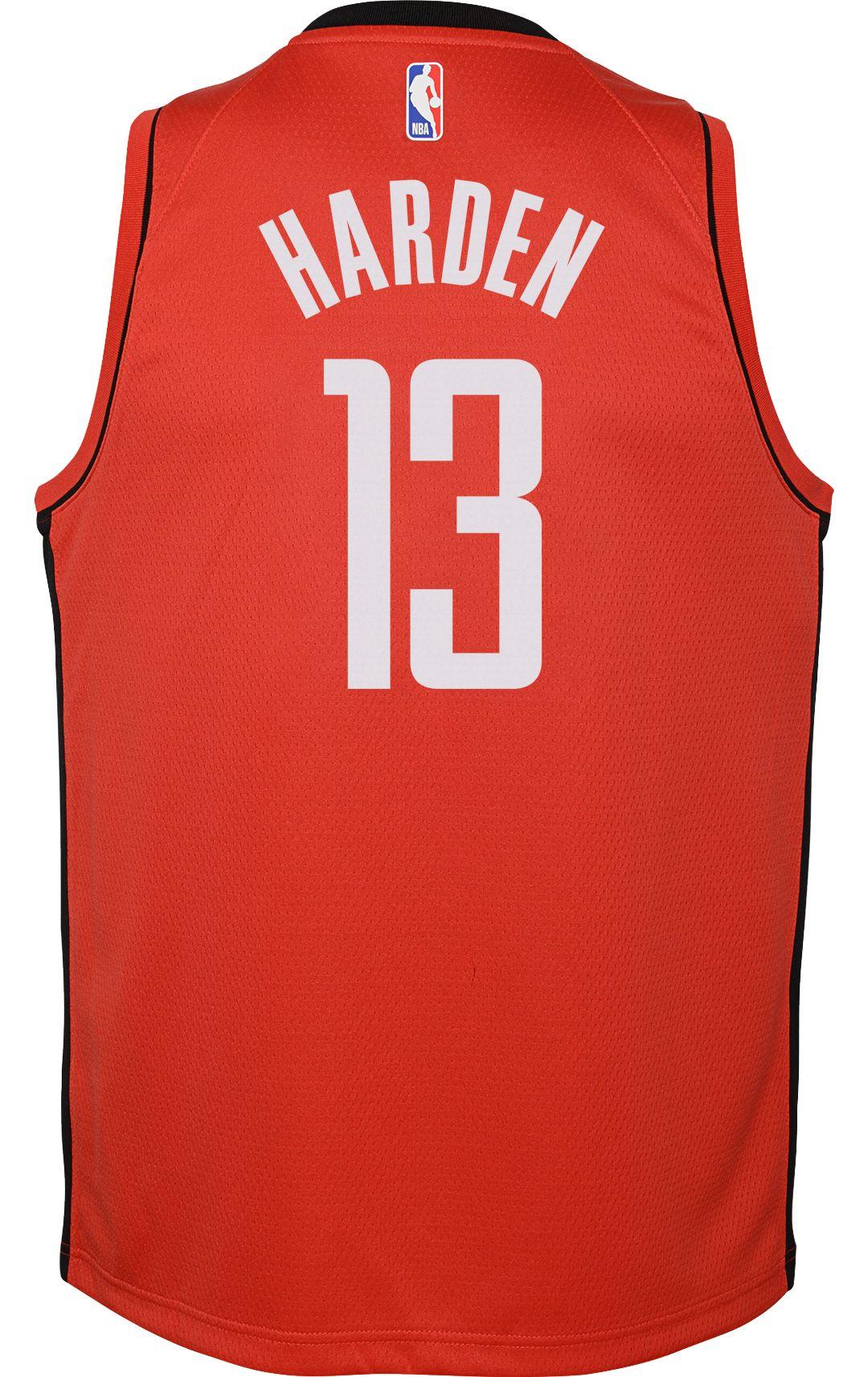 buy popular 3e291 533b1 Nike Youth Houston Rockets James Harden #13 Red Dri-FIT Swingman Jersey