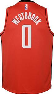 Nike Youth Houston Rockets Russell Westbrook #0 Red Dri-FIT Swingman Jersey product image