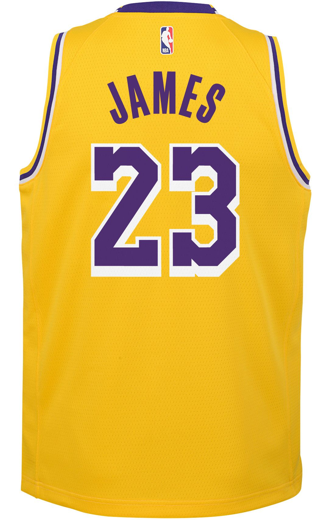 the best attitude f2aa2 f1517 Nike Youth Los Angeles Lakers LeBron James Dri-FIT Gold Swingman Jersey