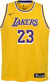 Nike Youth Los Angeles Lakers LeBron James Dri-FIT Gold Swingman Jersey product image