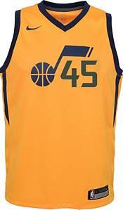 Nike Youth Utah Jazz Donovan Mitchell #45 Gold Dri-FIT Statement Swingman Jersey product image