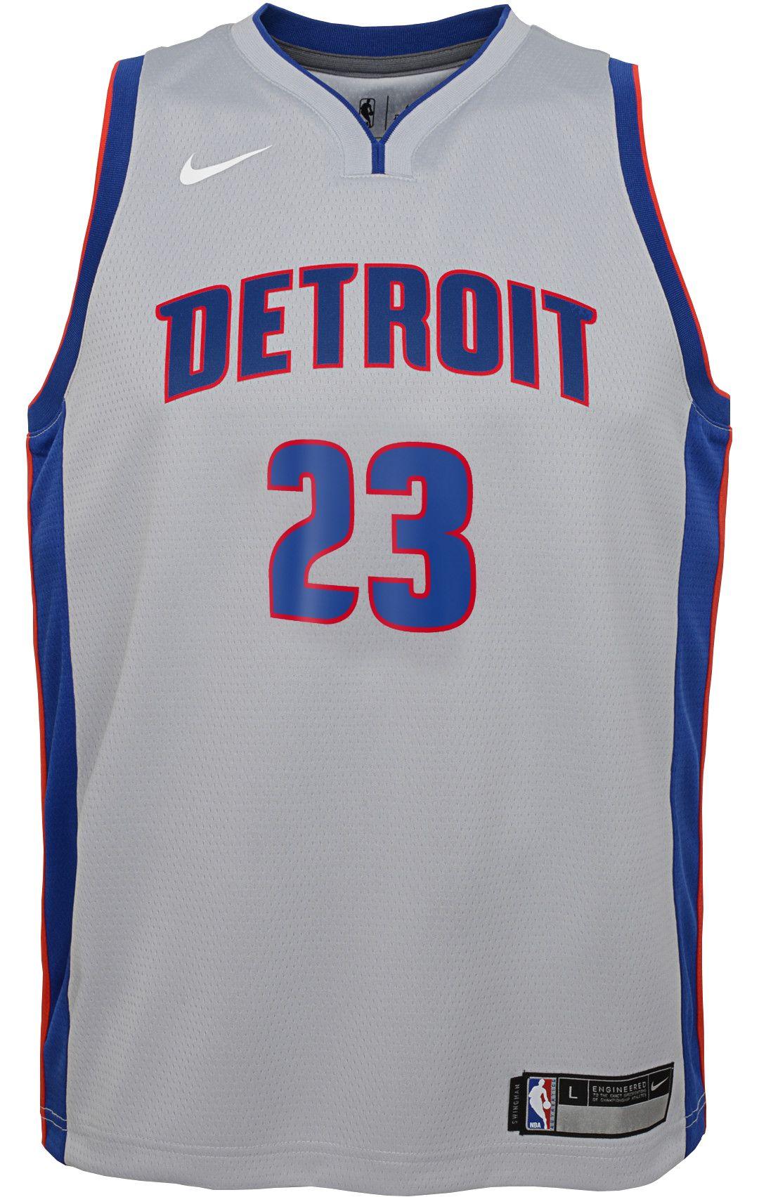 new style 1b8c7 1be19 Nike Youth Detroit Pistons Blake Griffin #23 Grey Dri-FIT Swingman Jersey