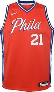Nike Youth Philadelphia 76ers Joel Embiid #21 Red Dri-FIT Statement Swingman Jersey product image