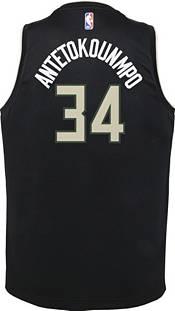 Nike Youth Milwaukee Bucks Giannis Antetokounmpo #34 Black Dri-FIT Statement Swingman Jersey product image