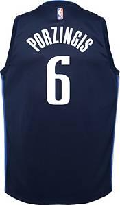 Nike Youth Dallas Mavericks Kristaps Porzingis #6 Navy Dri-FIT Statement Swingman Jersey product image