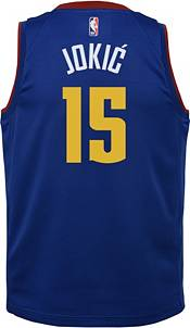 Nike Youth Denver Nuggets Nikola Jokic #15 Royal Dri-FIT Statement Swingman Jersey product image