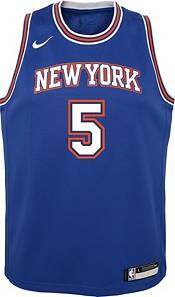 Nike Youth New York Knicks Dennis Smith Jr. #5 Royal Dri-FIT Statement Swingman Jersey product image