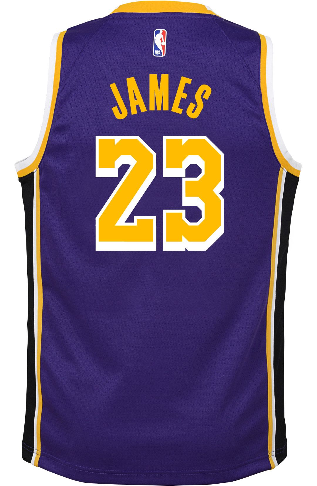 5624c62ef Nike Youth Los Angeles Lakers LeBron James Dri-FIT Purple Swingman Jersey 3
