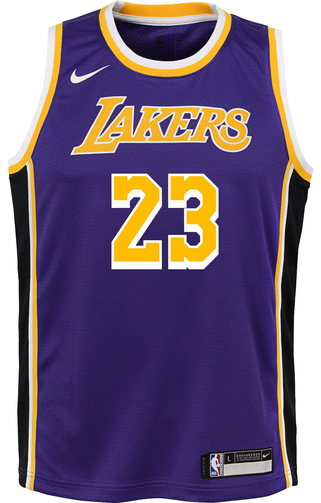 more photos 00b11 77418 Nike Youth Los Angeles Lakers LeBron James Dri-FIT Purple Swingman Jersey