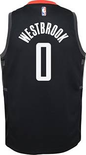 Nike Youth Houston Rockets Russell Westbrook #0 Black Dri-FIT Statement Swingman Jersey product image