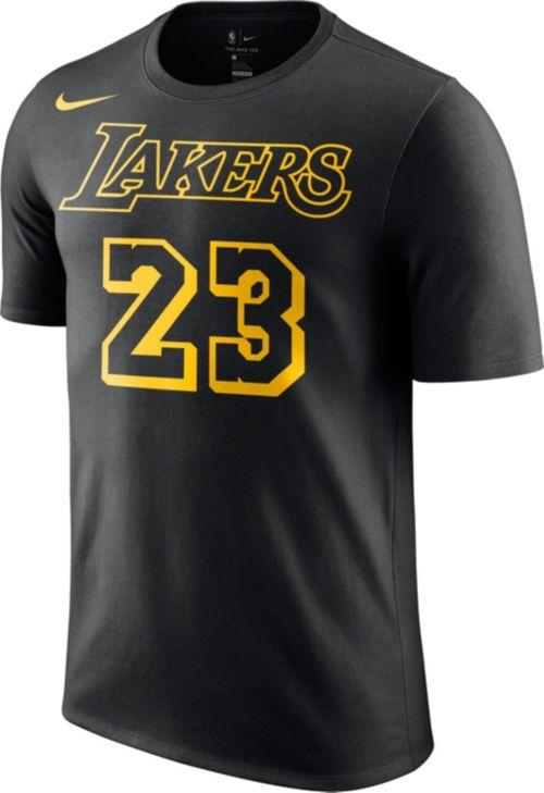 d9c991d0b86 Nike Youth Los Angeles Lakers LeBron James Dri-FIT City Edition T-Shirt