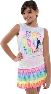 Lucky in Love Girls' Craft Scribble Pleated Skirt product image