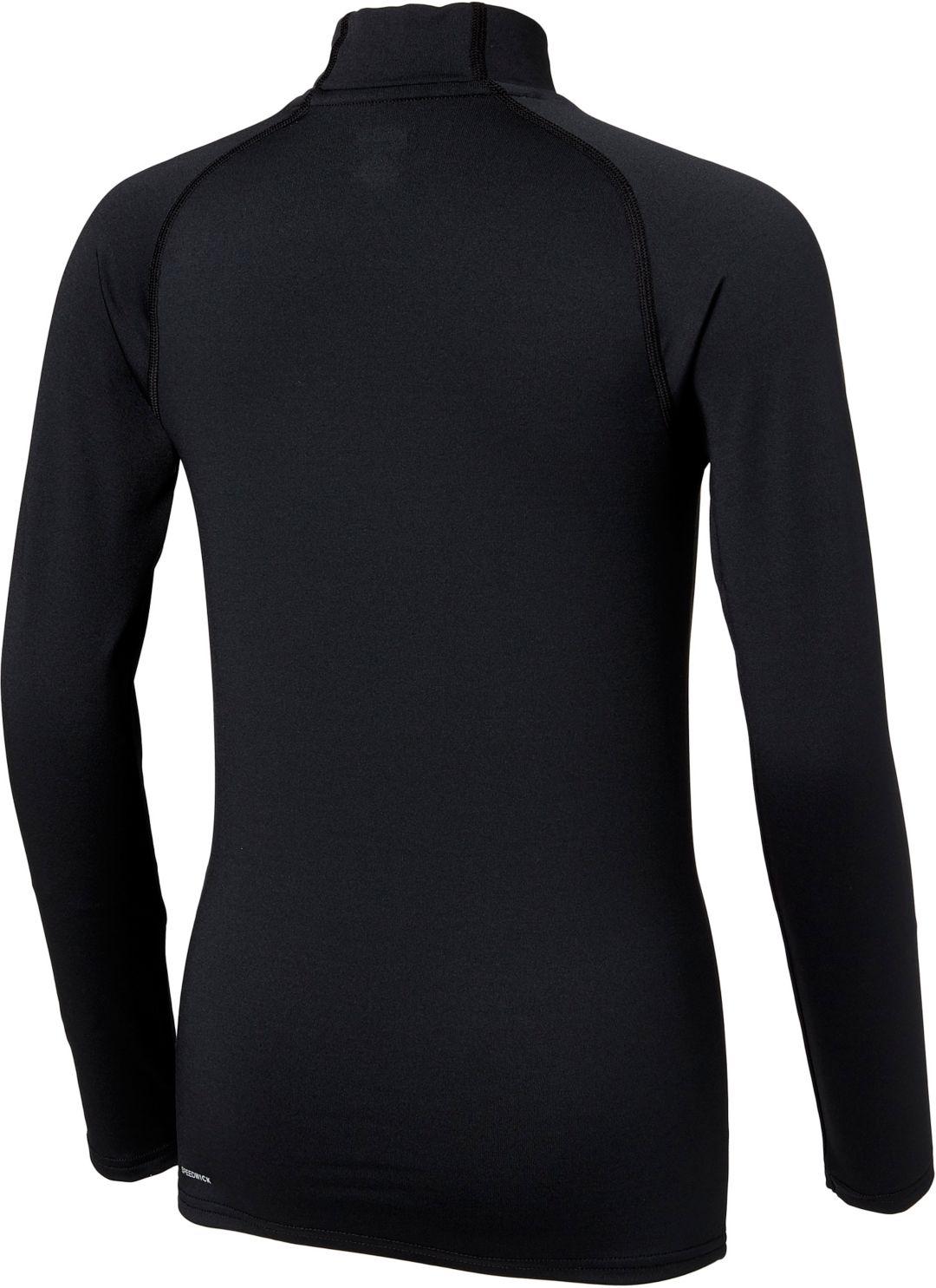068d8b21d8 Reebok Boys' Cold Weather Compression Mockneck Long Sleeve Shirt