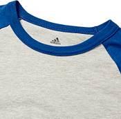 adidas Youth Triple Stripe ¾ Sleeve Heather Baseball Shirt product image