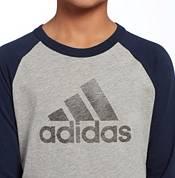 adidas Boys' Triple Stripe ¾ Sleeve Graphic Baseball T-Shirt product image