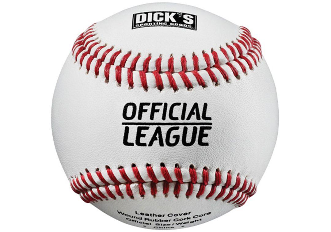 DICK'S Sporting Goods Bucket of 24 Leather Baseballs