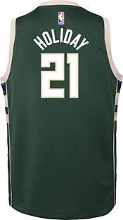 Nike Youth Milwaukee Bucks Jrue Holiday #21 Green Dri-FIT Swingman Jersey product image