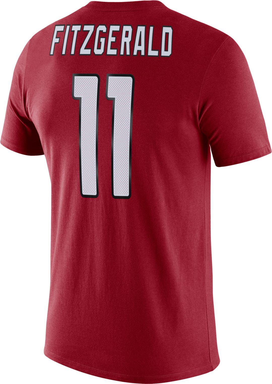pretty nice 9f74e 91d02 Nike Men's Arizona Cardinals Larry Fitzgerald #11 Logo Red T-Shirt