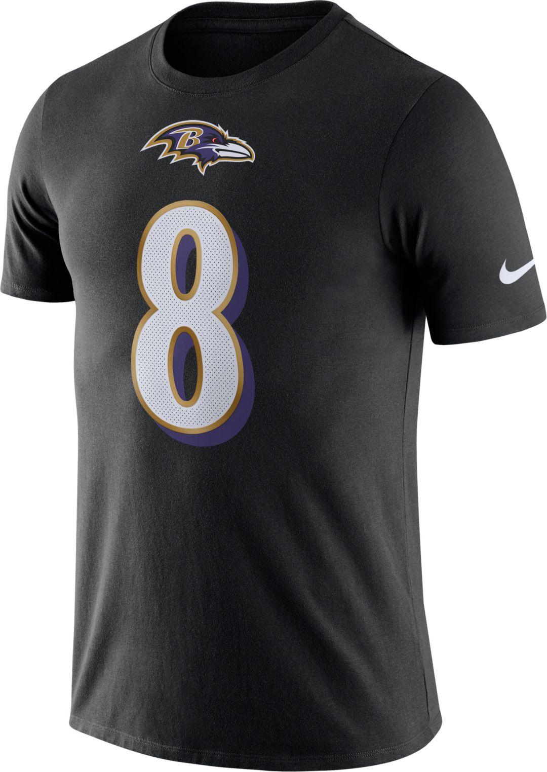 9b4d026d Nike Men's Baltimore Ravens Lamar Jackson #8 Logo Black T-Shirt ...