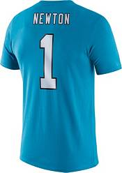 Nike Men's Carolina Panthers Cam Newton #1 Logo Blue T-Shirt product image