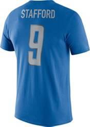 Nike Men's Detroit Lions Matthew Stafford #9 Logo Blue T-Shirt product image