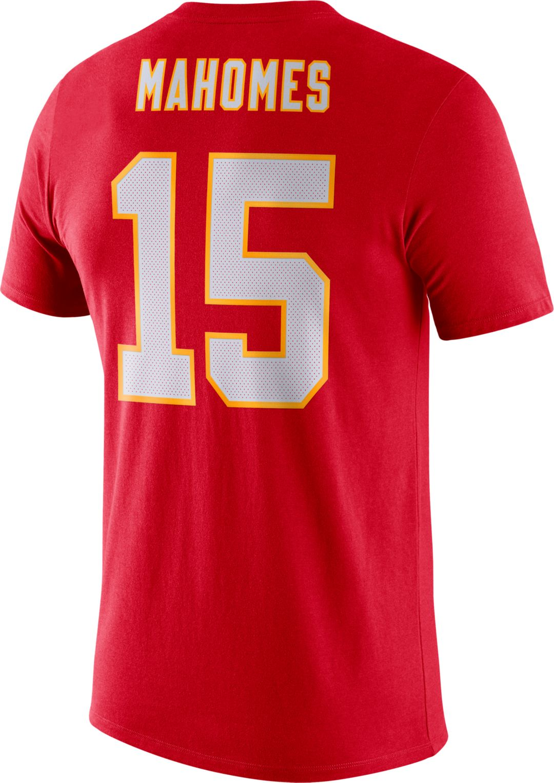 finest selection 176d4 8a431 Nike Men's Kansas City Chiefs Patrick Mahomes #15 Logo Red T-Shirt