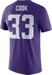 Nike Men's Minnesota Vikings Dalvin Cook #33 Logo Purple T-Shirt product image