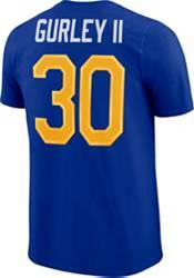 Nike Men's Los Angeles Rams Todd Gurley #30 Logo Royal T-Shirt product image