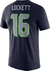 Nike Men's Seattle Seahawks Tyler Lockett #16 Logo Navy T-Shirt product image