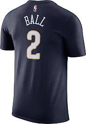 Nike Men's New Orleans Pelicans Lonzo Ball #2 Dri-FIT Navy Icon T-Shirt product image