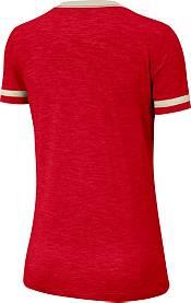Nike Women's Ohio State Buckeyes Scarlet Slub Fan V-Neck T-Shirt product image