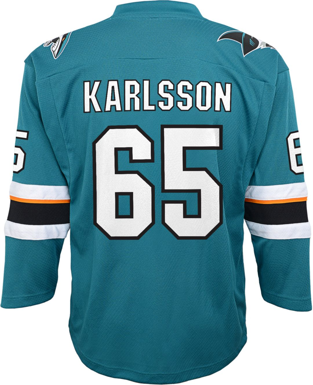 quality design dbaa6 9224a NHL Youth San Jose Sharks Erik Karlsson #65 Replica Home Jersey