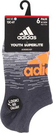 adidas Youth Superlite Badge of Sport No Show Socks 6 Pack product image