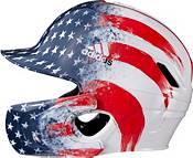 adidas Junior Stars & Stripes Baseball Batting Helmet w/ Jaw Guard product image