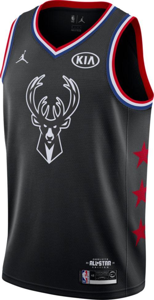 Jordan Men s 2019 NBA All-Star Game Giannis Antetokounmpo Black Dri-FIT  Swingman Jersey ecafccc21