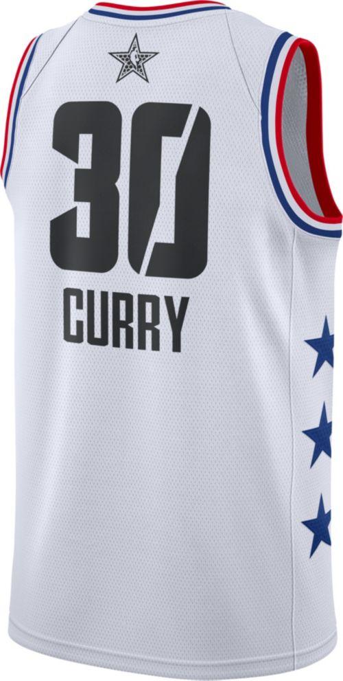94ef0260f Jordan Men's 2019 NBA All-Star Game Steph Curry White Dri-FIT Swingman  Jersey. noImageFound. Previous. 1. 2. 3