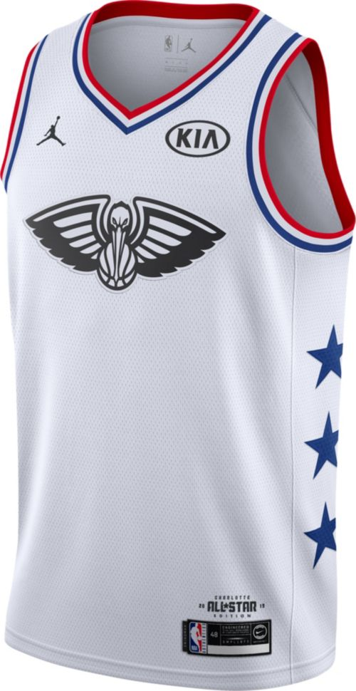 84aacabf467 Jordan Men's 2019 NBA All-Star Game Anthony Davis White Dri-FIT Swingman  Jersey