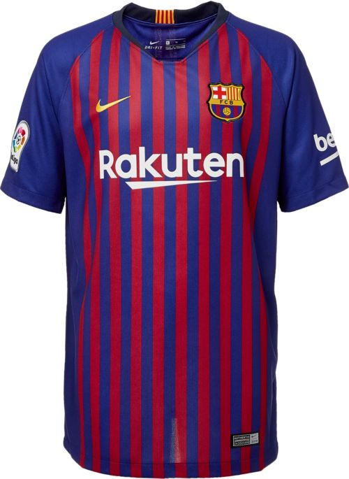 6fbc0157c14 Nike Men s FC Barcelona Lionel Messi  10 2018 Breathe Stadium Home Replica  Jersey. noImageFound. Previous. 1. 2