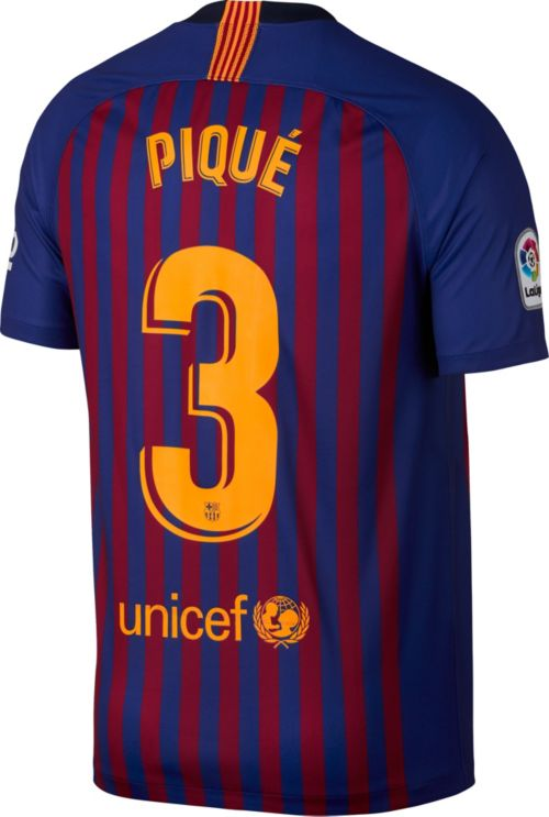 e1e02055a Nike Men s FC Barcelona Gerard Pique  3 2018 Breathe Stadium Home ...