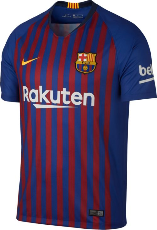 77cd7dbf551 Nike Men s FC Barcelona Gerard Pique  3 2018 Breathe Stadium Home Replica  Jersey