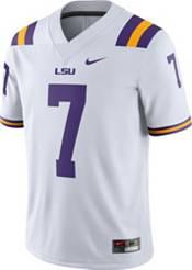 Nike Men's Leonard Fournette LSU Tigers #7 Dri-FIT Game Football White Jersey product image