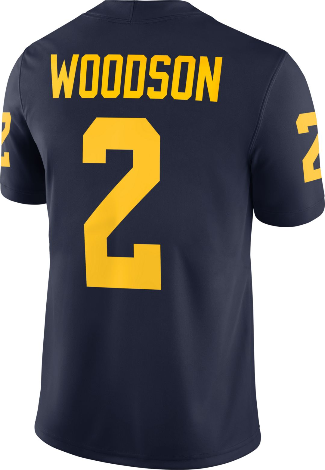 online store cffa0 f9d34 Jordan Men's Charles Woodson Michigan Wolverines #2 Blue Dri-FIT Game  Football Jersey