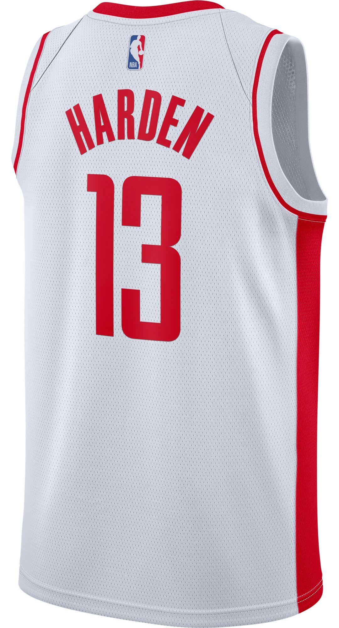 Nike Men's Houston Rockets James Harden #13 White Dri FIT Swingman Jersey