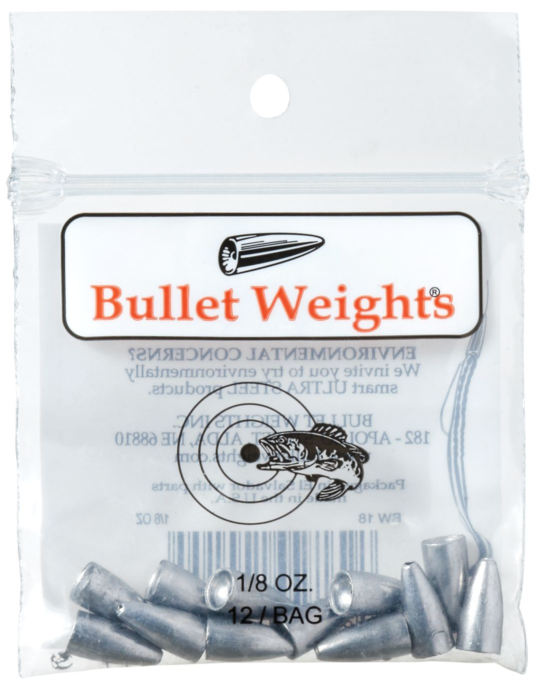 Bullet Weight Worm Lead 1//2Oz 25//Pack BW12-25