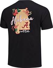 Image One Women's Alabama Crimson Tide Grey Floral State T-Shirt product image
