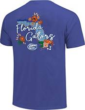 Image One Women's Florida Gators Blue Floral State T-Shirt product image